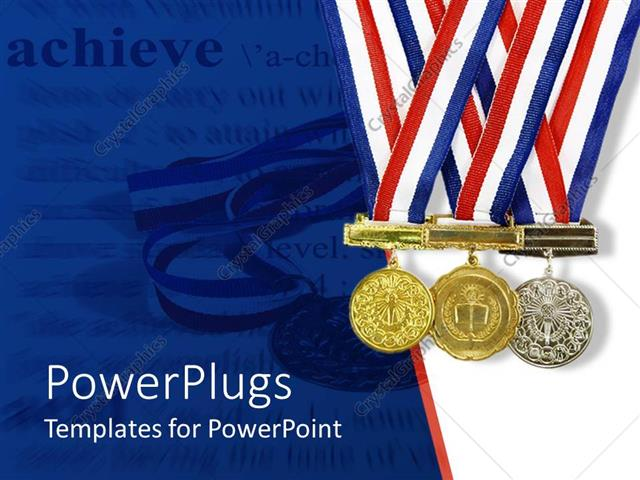 powerpoint template  gold  silver and bronze achievement