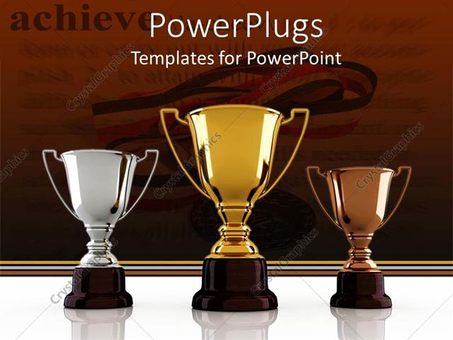 Powerpoint template gold silver and bronze winning trophies powerpoint template displaying gold silver and bronze winning trophies sitting on the white background toneelgroepblik Choice Image