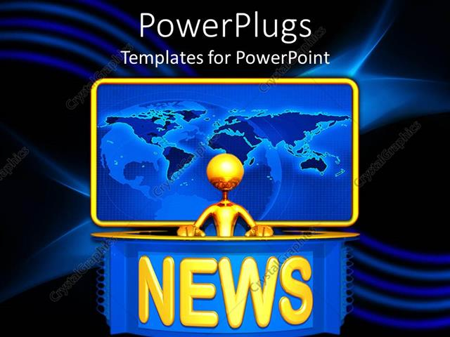News Powerpoint Template Leoncapers