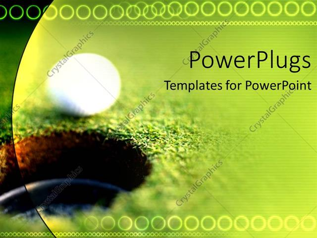 Powerpoint template a golf ball just going in the hole with powerpoint template displaying a golf ball just going in the hole with greenery in the background toneelgroepblik Image collections