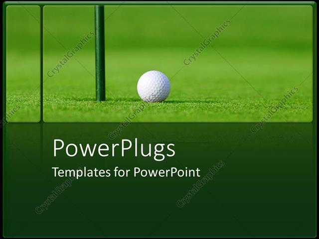Powerpoint template golf ball next to hole in green golf course 4819 powerpoint template displaying golf ball next to hole in green golf course toneelgroepblik Choice Image