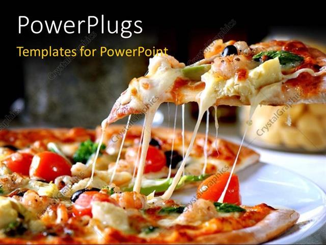 Powerpoint Template Gourmet Pizza Coming Out Of Wood Fired Pizza