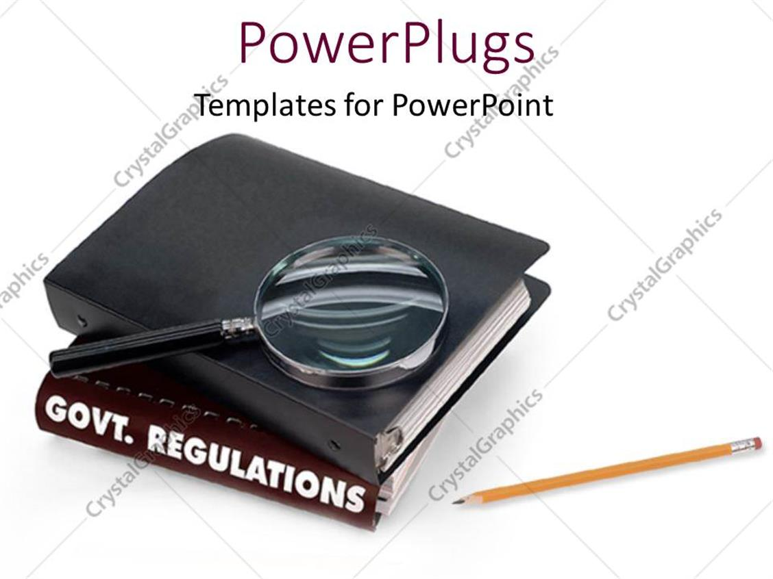 PowerPoint Template: government regulations following law and order ...