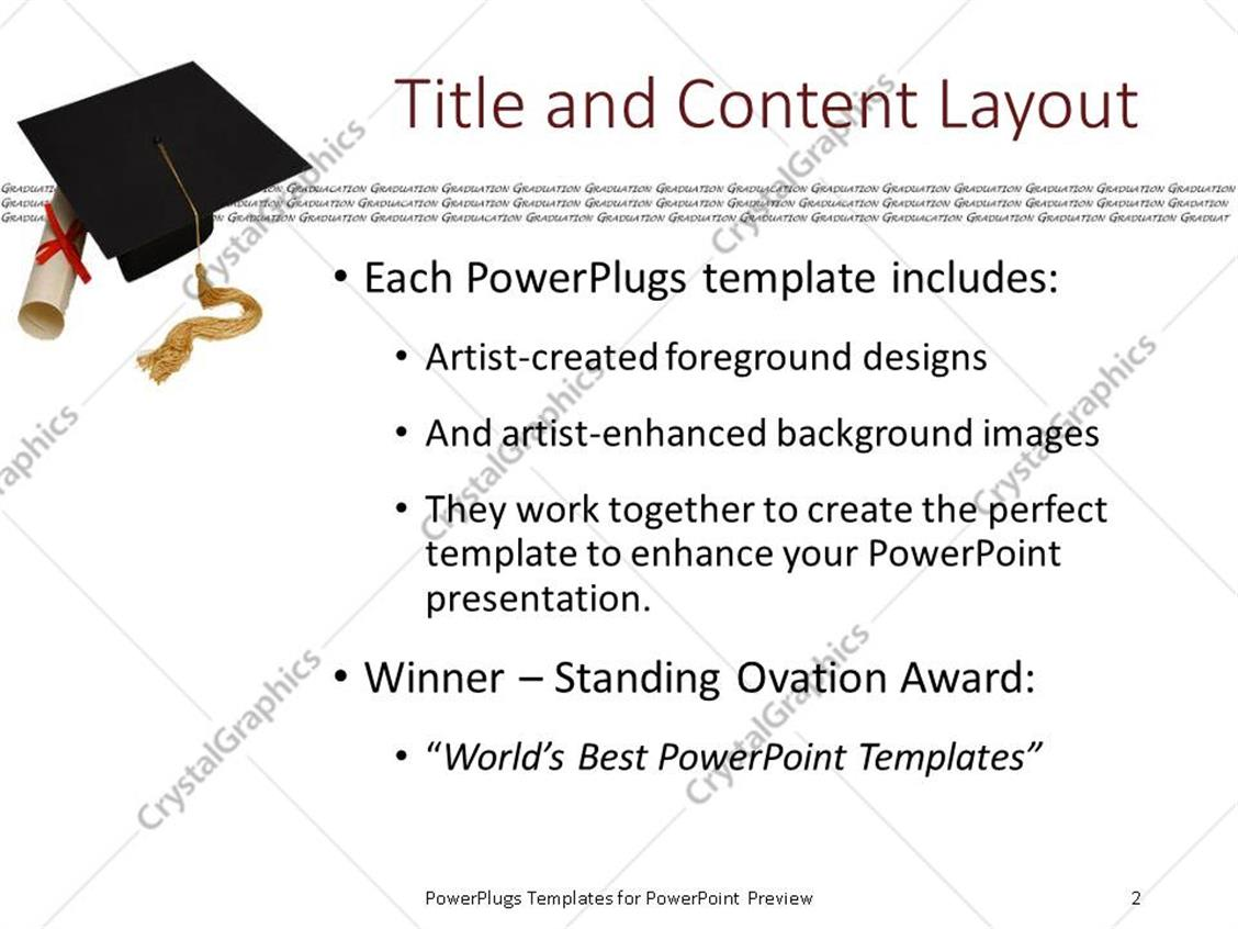 Powerpoint template a graduating cap with a degree and white powerpoint products templates secure yelopaper Choice Image