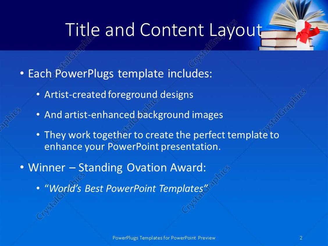 Powerpoint template a graduation degree with a bundle of books 9567 powerpoint products templates secure yelopaper Choice Image
