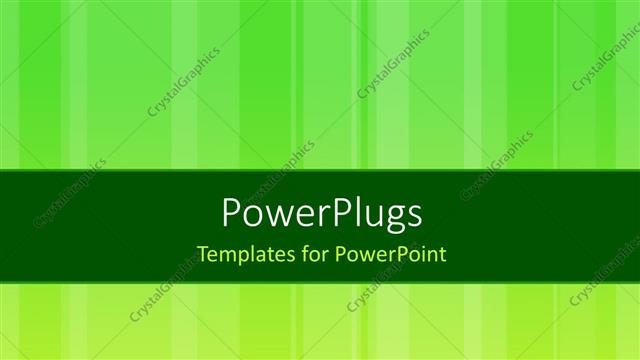 PowerPoint Template Displaying Green Abstract Background with Different Stripes