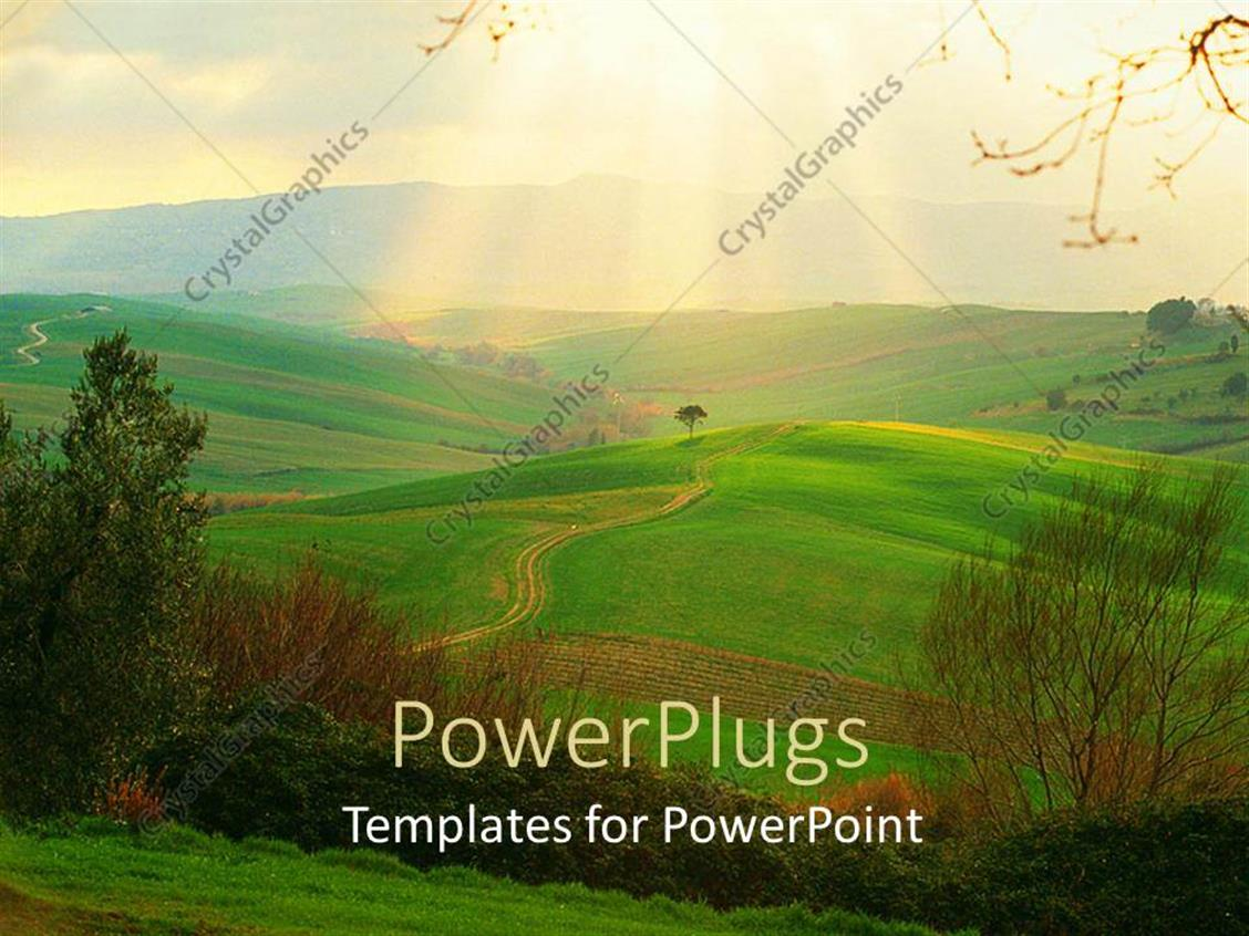 Italy powerpoint templates ppt themes with italy backgrounds elegant presentation theme enhanced with green fields of campagna toscana italy with sunlight rays in template size toneelgroepblik Choice Image