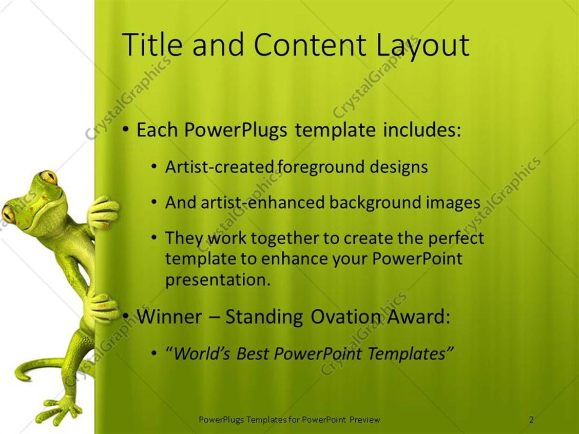 Powerpoint template green lizard peaking through curtain white and powerpoint products templates secure toneelgroepblik Gallery