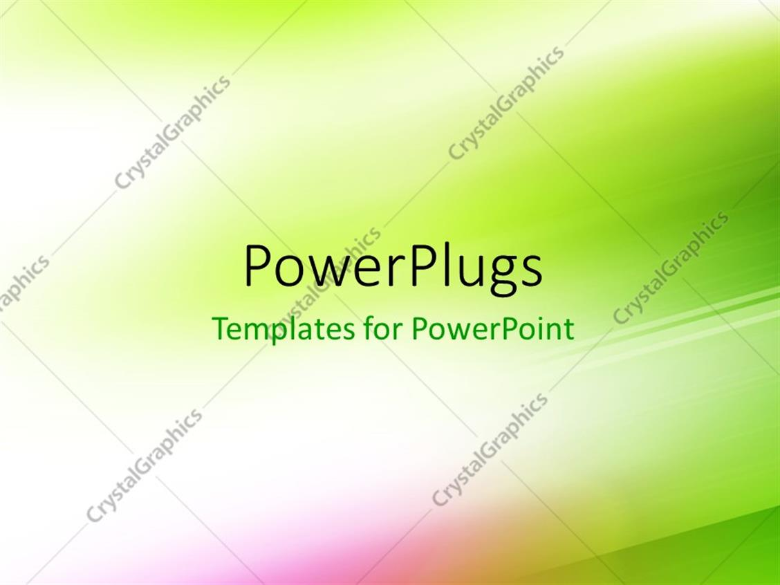 powerpoint template  green motion blur abstract background