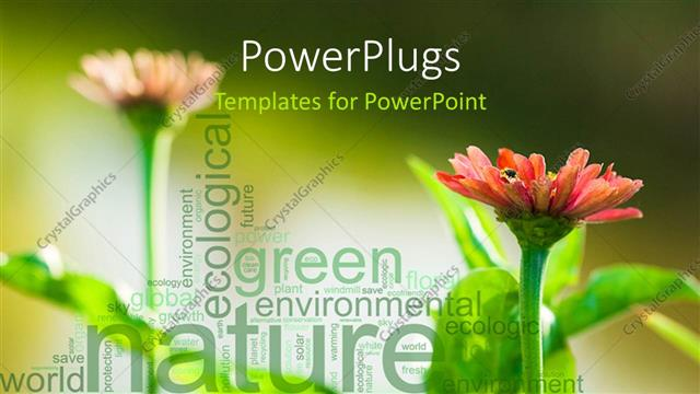 Powerpoint Template Green Nature Environment Word Collage