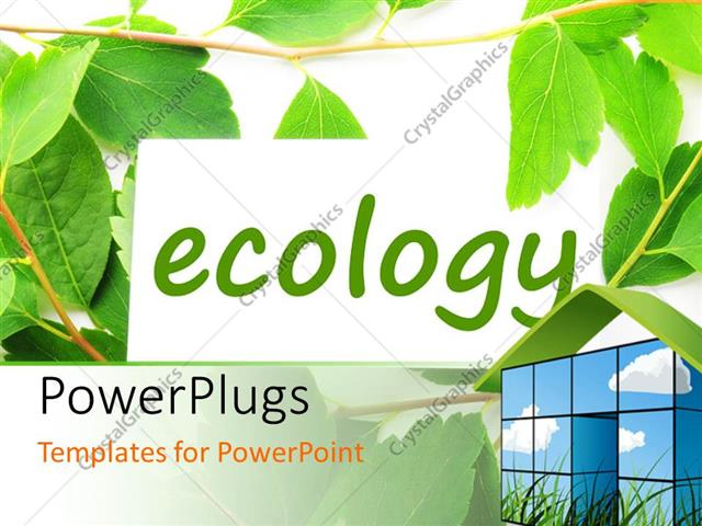 Powerpoint template green and white background with text ecology powerpoint template displaying green and white background with text ecology and 3d home at top right toneelgroepblik Image collections