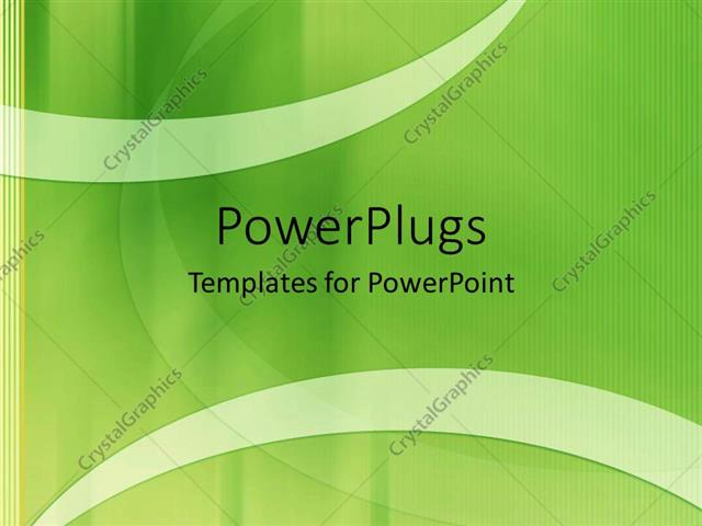 PowerPoint Template Displaying a Greenish Background with Place for Text