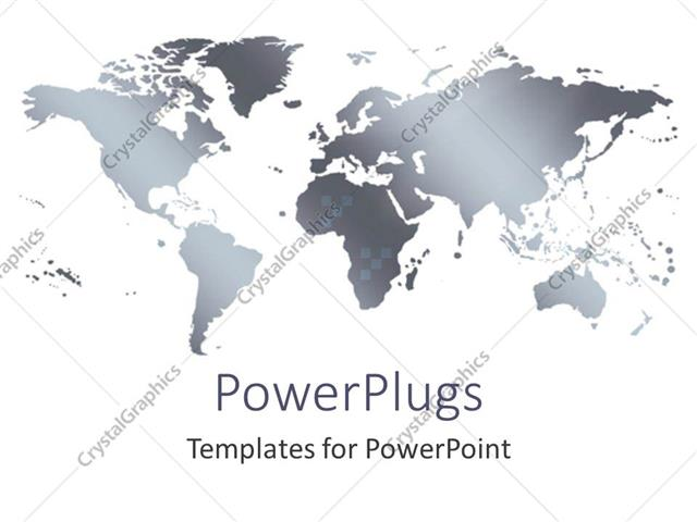Powerpoint template grey world map with small squares on white powerpoint template displaying grey world map with small squares on white background gumiabroncs Images
