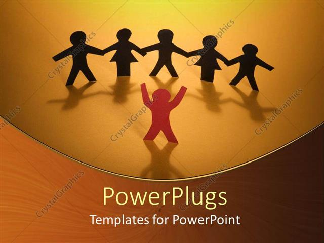 powerpoint template group of people with hands joined together
