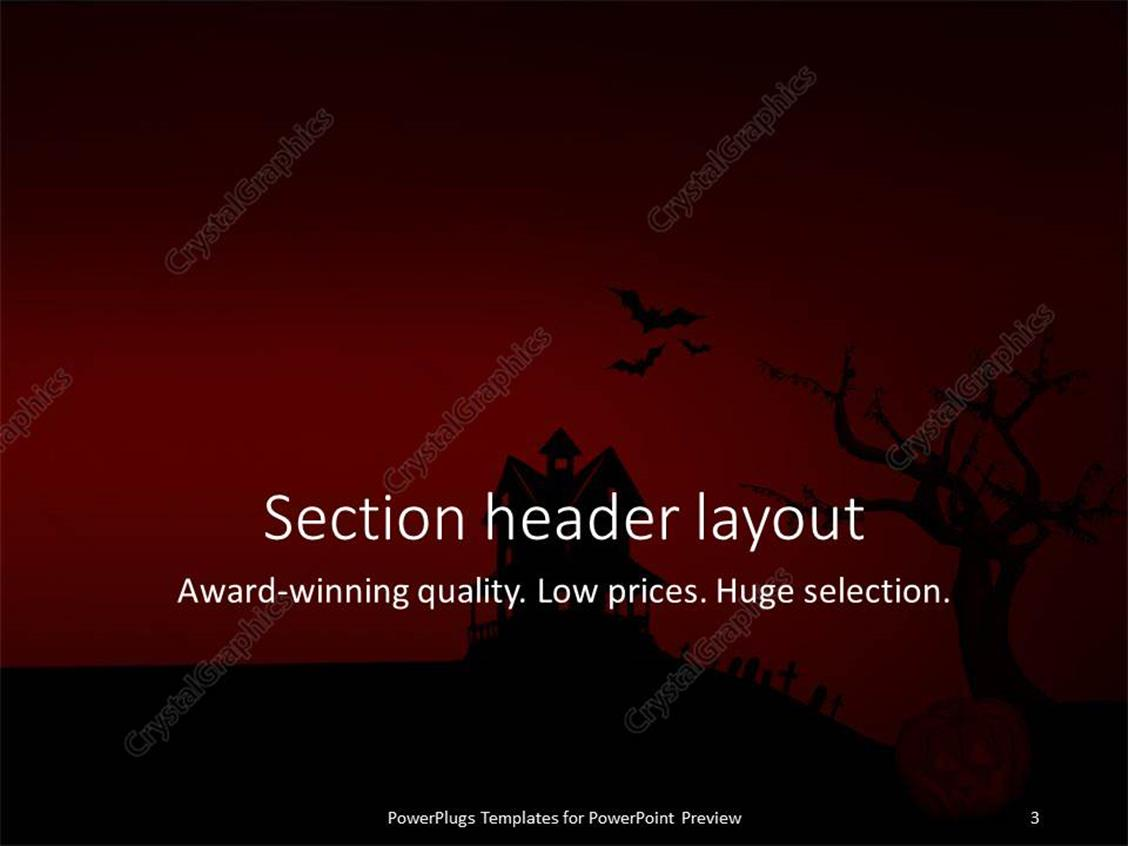Powerpoint template halloween depictions with haunted house bats powerpoint products templates secure toneelgroepblik Images