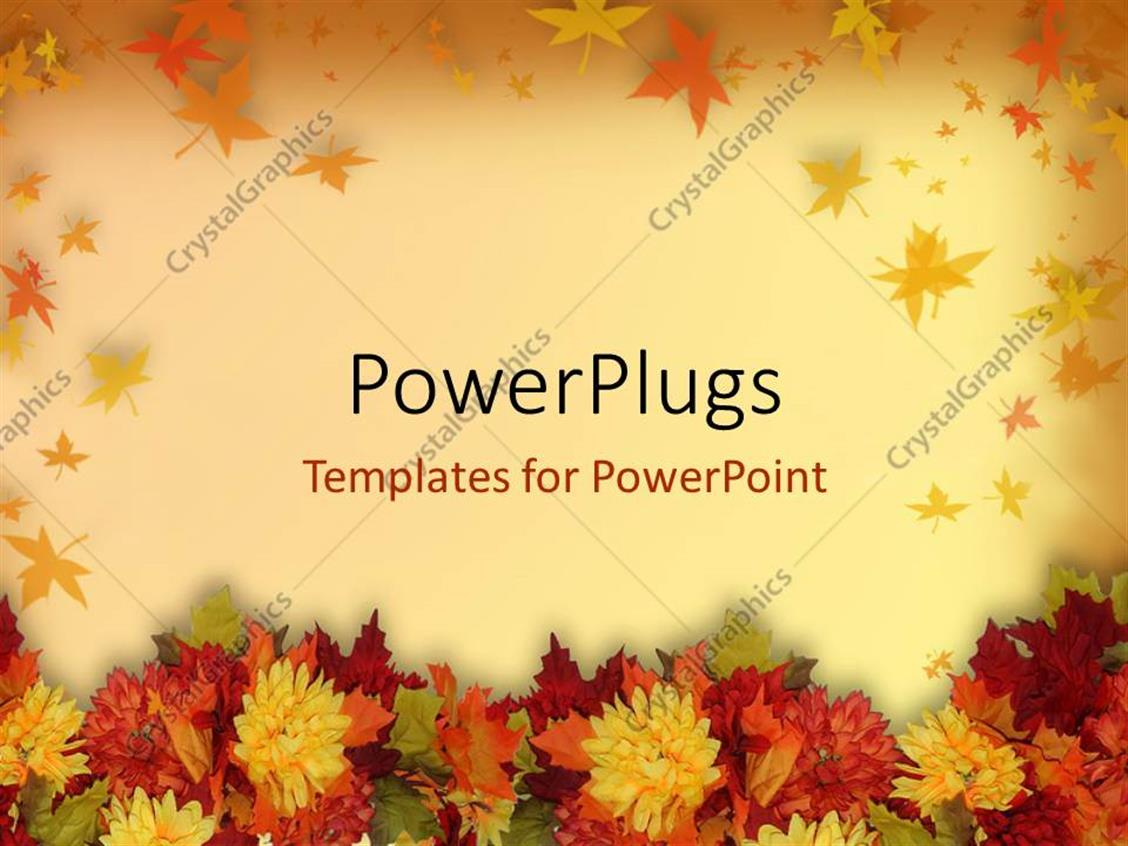 Powerpoint Template Halloween And Thanksgiving Theme With Colorful