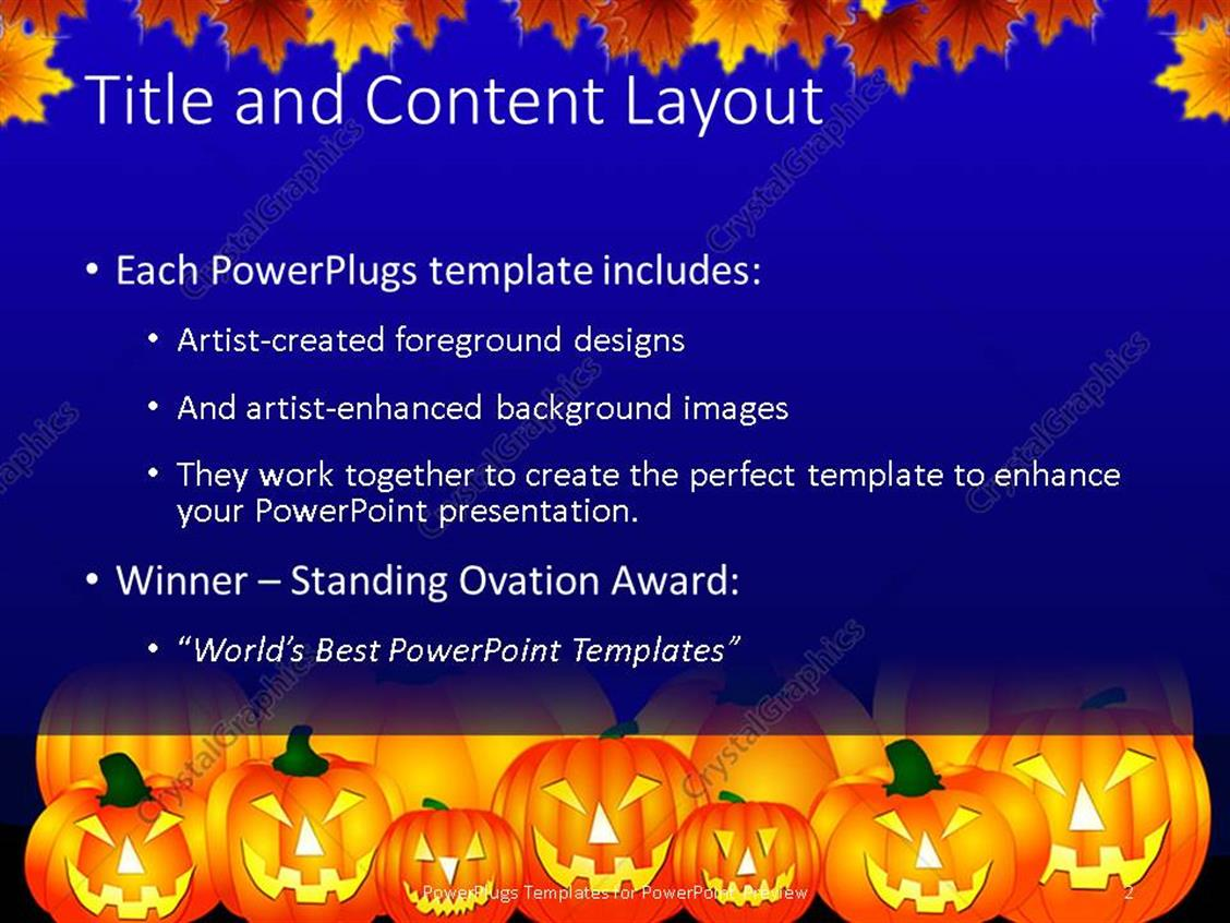Powerpoint template halloween theme with pumpkins reflecting in powerpoint products templates secure alramifo Choice Image