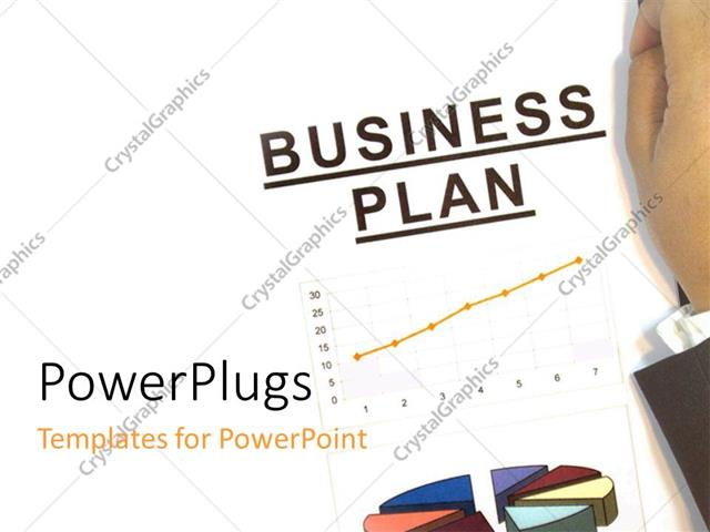powerpoint template hand presenting a business plan on white board