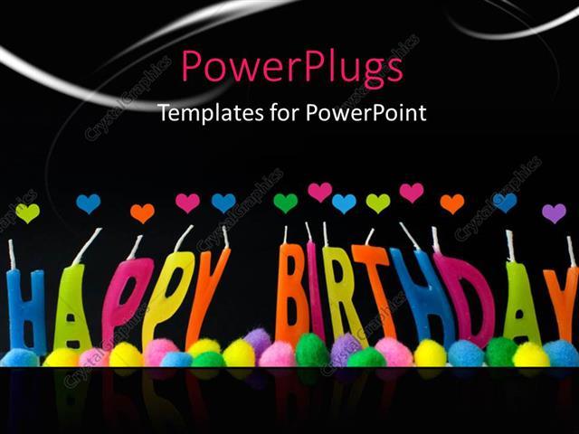 Powerpoint Template A Happy Birthday With A Blackish Background 3546