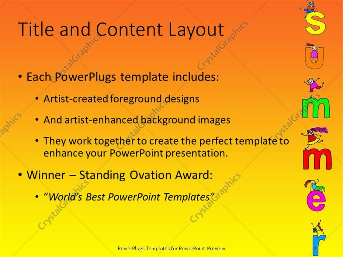 Powerpoint template happy children jumping on letters on a sunny powerpoint products templates secure toneelgroepblik Gallery