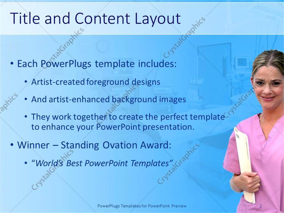 Powerpoint template healthcare theme with smiling nurse in pink powerpoint products templates secure alramifo Gallery