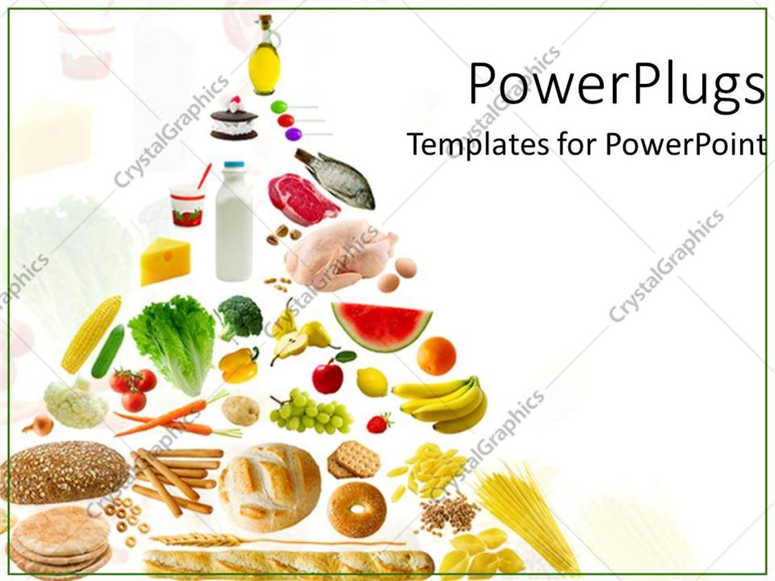 powerpoint template healthy eatables 12804