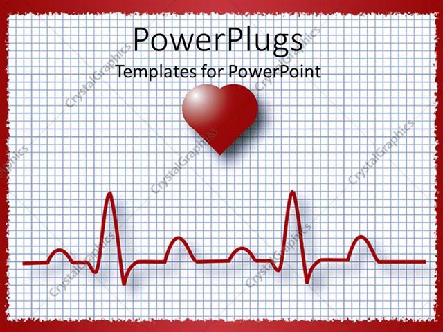 Powerpoint template heart graphing paper showing pulse 10387 powerpoint template displaying heart graphing paper showing pulse toneelgroepblik Gallery