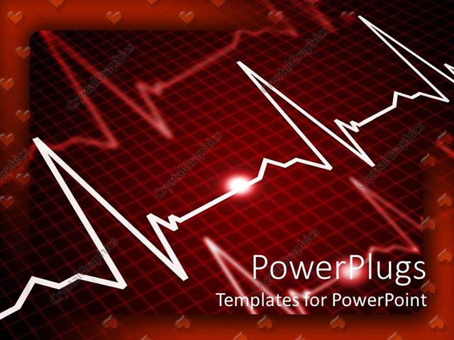 Powerpoint template heart rate monitor showing three pulse powerpoint template displaying heart rate monitor showing three pulse indications with heart shape as toneelgroepblik Image collections