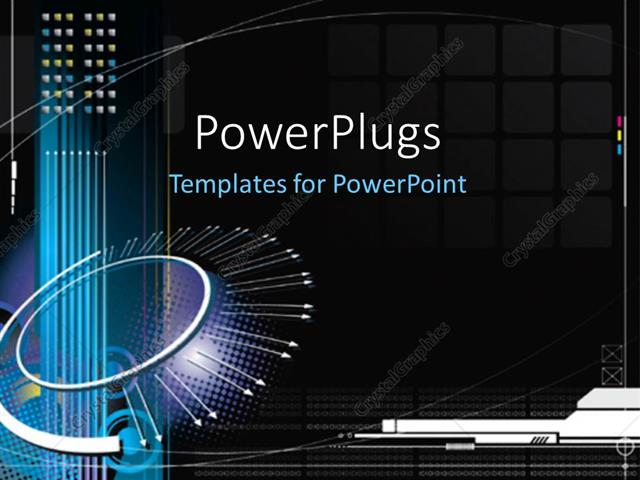 Powerpoint Template High Tech Infinity Concept With Black Color Background 16280