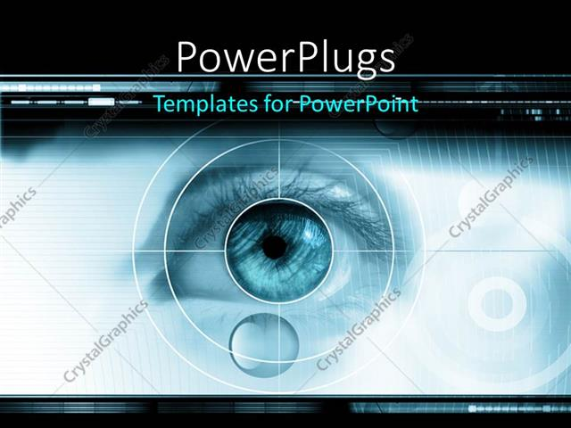 powerpoint template high tech technology background with targeted