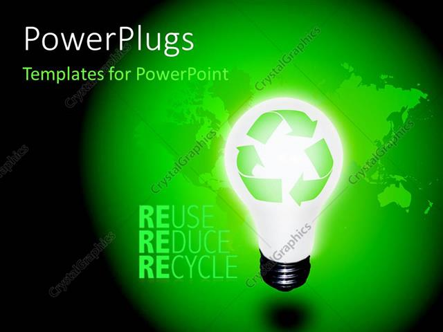 powerpoint template size pixels - powerpoint template high resolution recycle idea bulb