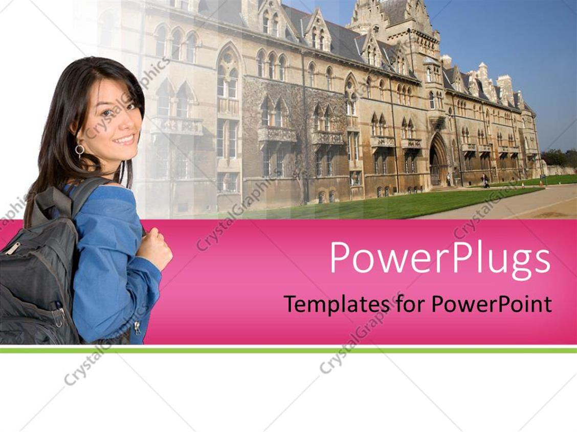 PowerPoint Template Displaying Higher Education Concept with College