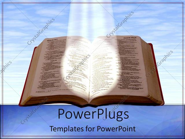 Powerpoint template holy bible shining a light blue skies reading powerpoint template displaying holy bible shining a light blue skies reading on blue background toneelgroepblik Images