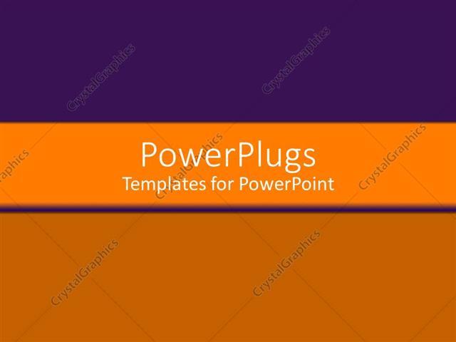 Powerpoint Template Horizontal Orange Bar On Background Of Purple Gradient And Warm Orange 14693