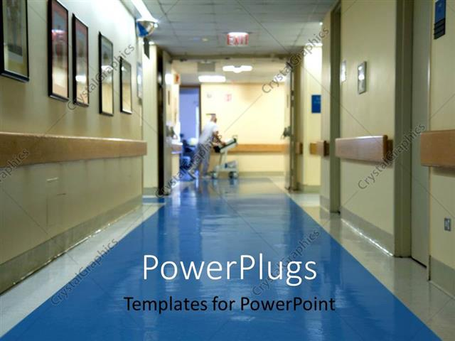 Powerpoint template hospital corridor with a blurred figure of a powerpoint template displaying hospital corridor with a blurred figure of a nurse moving hospital equipment toneelgroepblik Choice Image