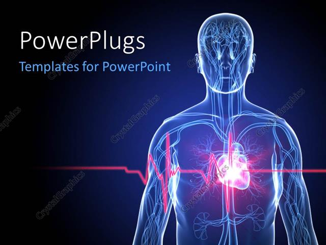 Powerpoint template a human anatomy with heartbeatheart attack 16126 powerpoint template displaying a human anatomy with heartbeatheart attack toneelgroepblik