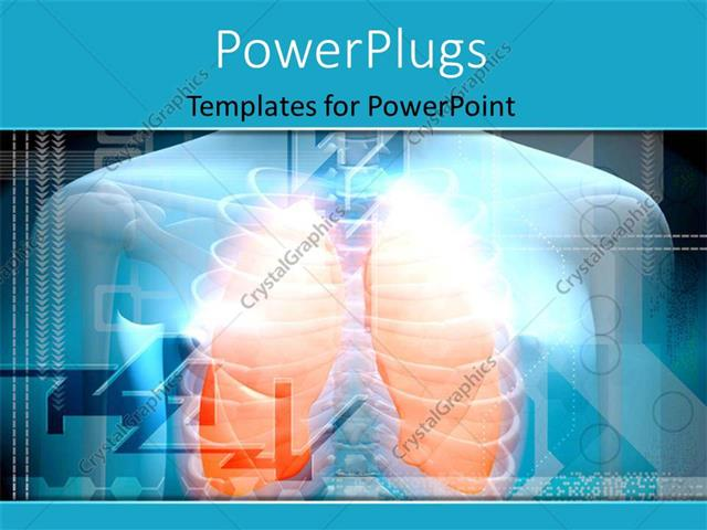 Powerpoint template human body and lungs in orange color 16725 powerpoint template displaying human body and lungs in orange color toneelgroepblik Image collections