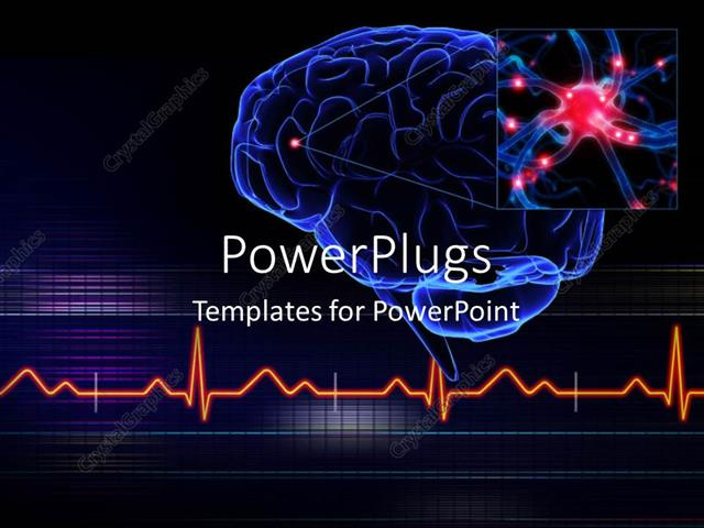 Powerpoint Template Human Brain With A Highlighted Small Part Of