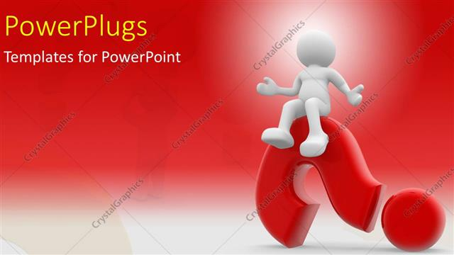 Powerpoint template human character sitting on a question mark with powerpoint template displaying human character sitting on a question mark with red color toneelgroepblik Choice Image