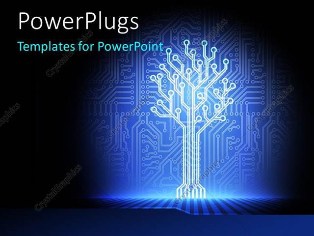 Powerpoint template an illuminated part of a circuit 11049 powerpoint template displaying an illuminated part of a circuit toneelgroepblik Images