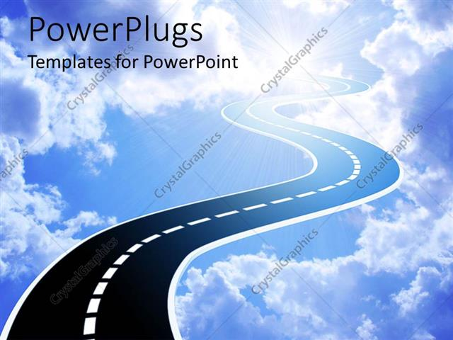 Powerpoint template an illustration of a highway leading into the powerpoint template displaying an illustration of a highway leading into the sky toneelgroepblik Gallery