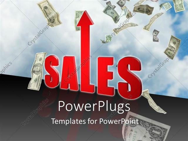 Powerpoint template increase in sales sky is the limit money income powerpoint template displaying increase in sales sky is the limit money income profit business toneelgroepblik Images