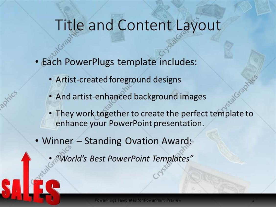 Powerpoint template increase in sales sky is the limit money powerpoint products templates secure alramifo Images