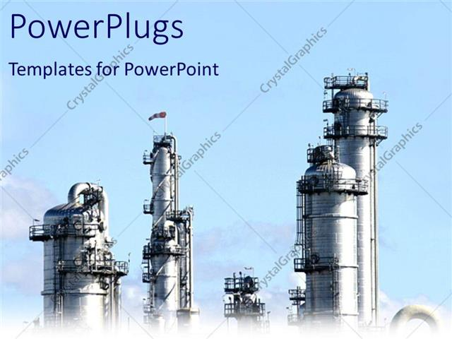 PowerPoint Template: industrial plant representing chemical