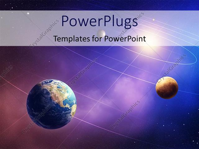 powerpoint template inner four solar system planets furnished by