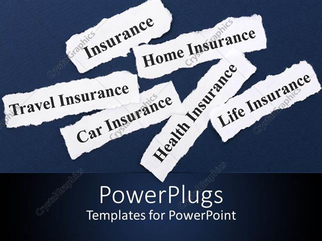 insurance related templates  PowerPoint Template: insurance related words written on small pieces ...