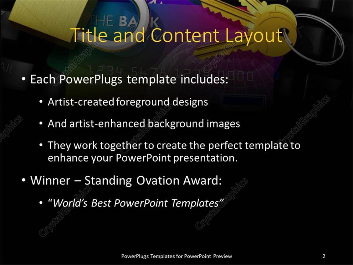 Powerpoint template internet banking security depiction with powerpoint products templates secure toneelgroepblik Choice Image
