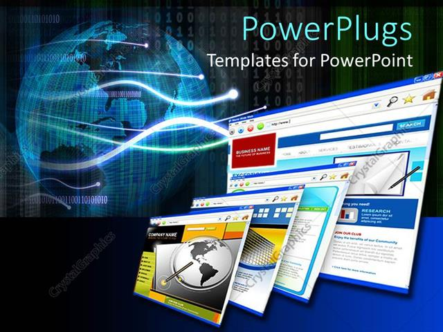 Powerpoint template internet business online shopping e commerce powerpoint template displaying internet business online shopping e commerce websites with globe and toneelgroepblik Image collections