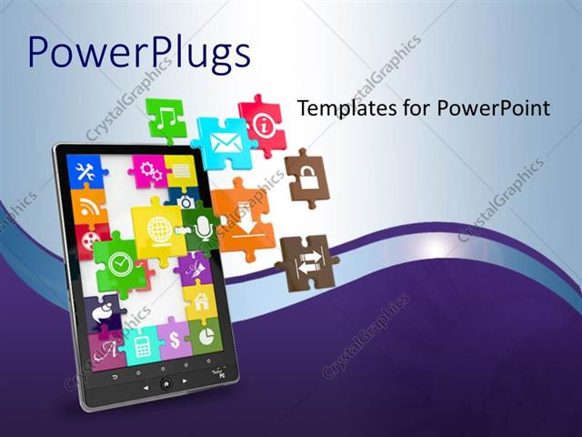 Powerpoint Template An Ipad With A Number Of Apps 28421