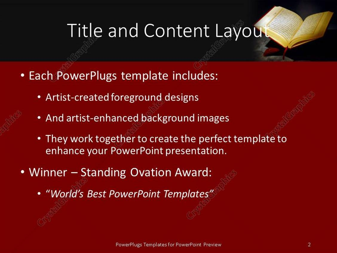 Powerpoint template islamic holy quran depiction with arabic text powerpoint products templates secure toneelgroepblik Choice Image